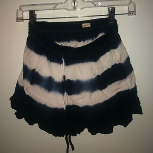 Hollister flowy blue and white shorts
